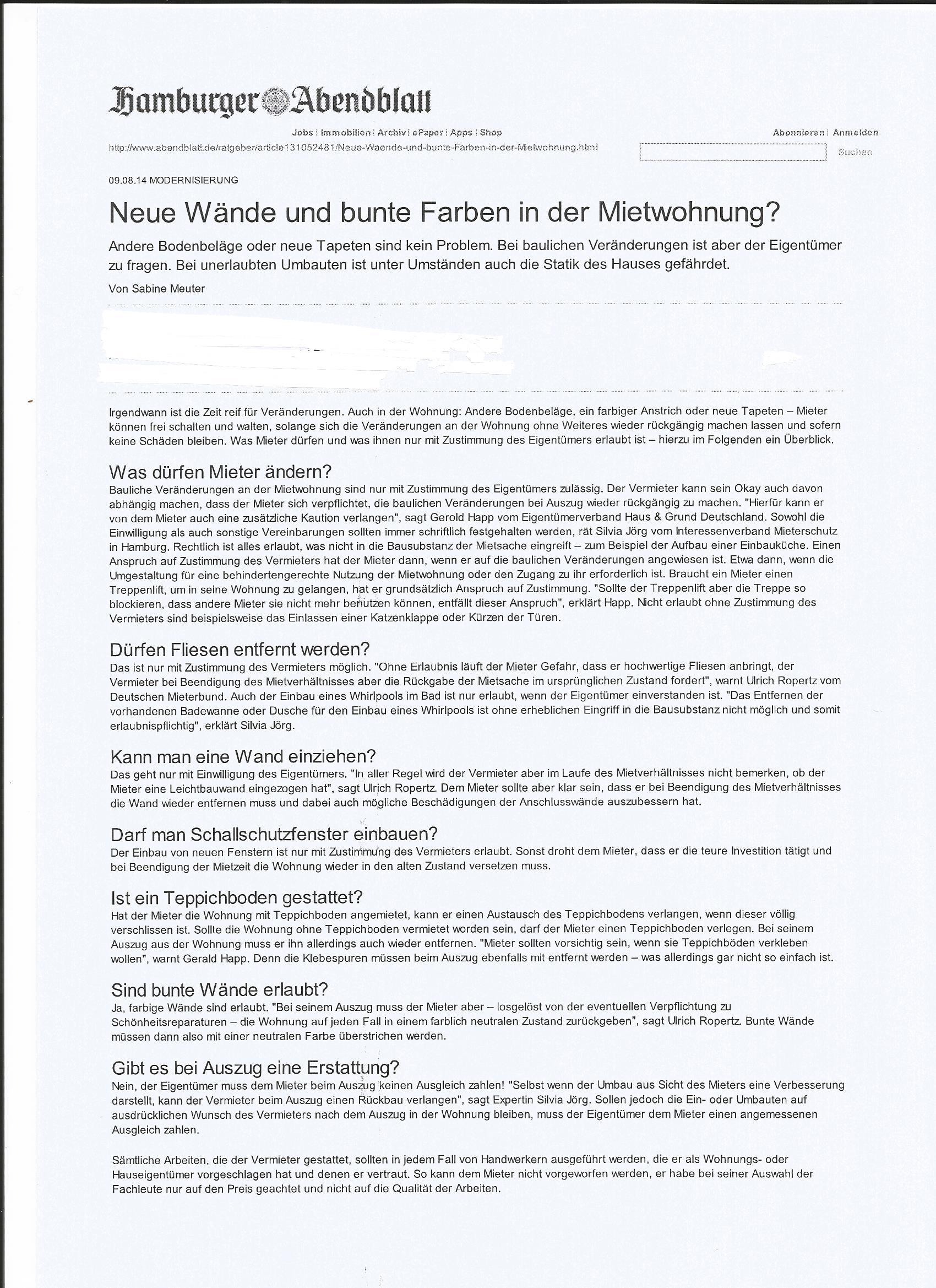 IV Mieterschutz e.V.: IVM in den Medien